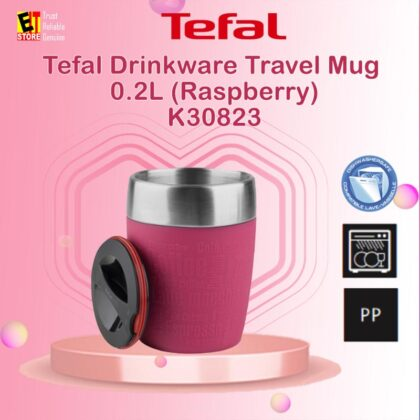 [ 3.3 ] TEFAL DRINKWARE TRAVEL MUG 0.2L (RASPBERRY) K30823