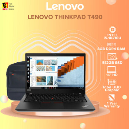 Lenovo ThinkPad T490 20RYS0MC00 (i5-10210U, 8GB, 512GB SSD, 14″ HD, Intel UHD, W10PRO) + CARRY CASE DICOTA
