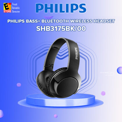 PHILIPS SHB3175BK BASS+ BLUETOOTH TRUE WIRELESS HEADSET HEADPHONE – BLACK SHB3175BK/00