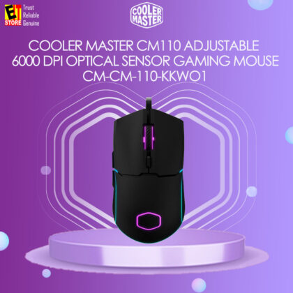 COOLER MASTER CM110 ADJUSTABLE 6000 DPI OPTICAL SENSOR GAMING MOUSE (CM-CM-110-KKWO1)