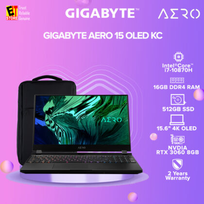 [Pre-order] GIGABYTE AERO 15 OLED KC (i7-10870H/8Gx2, DDR4 2933MHz/15.6 4K OLED/ GeForce RTX3060 , 8GB GDDR6/ 512GB SSD/ WIN10 HOME/ 2YRS GLOBAL) (ETA: 2020-02-28)