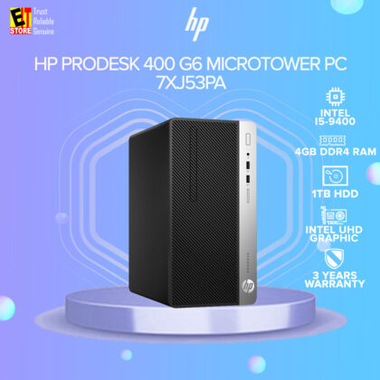 HP PRODESK 400 G6 MICROTOWER PC (I5-9500/4GB/1TB/W10PRO/3YRS ONSITE) Desktop (7XJ53PA)