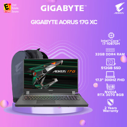 [PRE-ORDER] GIGABYTE AORUS 17G XC (i7-10870H/GeForce RTX 3070 8GB GDDR6/32 DDR4 2933MHz/17.3″ FHD 300Hz/ 512GB SSD/WIN10 HOME/2YRS GLOBAL)(ETA: 2021-03-31)