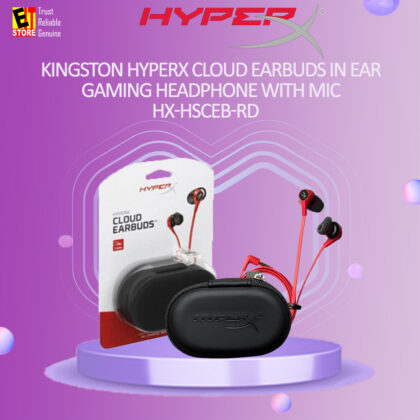 KINGSTON HYPERX CLOUD EARBUDS IN EAR GAMING HEADPHONE WITH MIC (HX-HSCEB-RD)