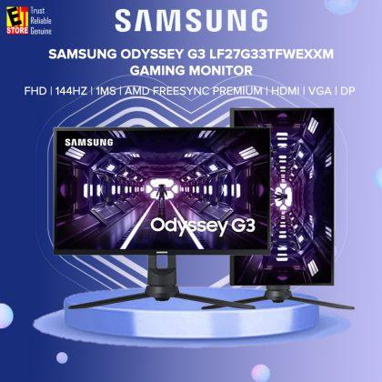 Samsung Odyssey G3 27 LF27G33TFWEXXM 144HZ FHD 1MS VGA HDMI DP AMD FREESYNC PREMIUM Gaming Monitor