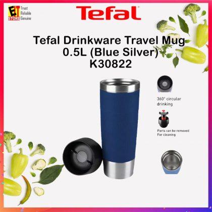 TEFAL DRINKWARE TRAVEL MUG 0.5L (BLUE SILVER) K30822