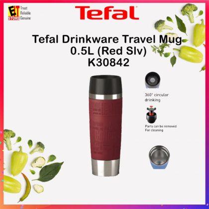 TEFAL DRINKWARE TRAVEL MUG 0.5L (RED SILVER) K30842
